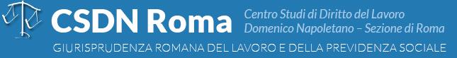 Centro Studi di Diritto del lavoro Domenico Napolitano – Sezione di Roma